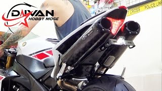 8. Yamaha YZF-R1 WGP 50th Anniversary Edition 2012 Exhaust Twobrothers Black Series SOUND! (istimewa)