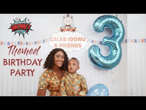 Ad | Caleb Turns 3 | Birthday Tradition Ideas | Thomas And Friends Train Theme Party