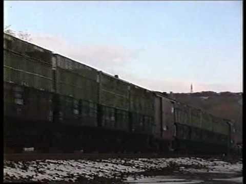 コトラ90000チップ輸送貨物列車