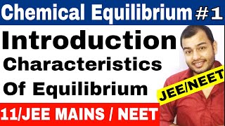Class 11 chapter 7   Equilibrium   Chemical Equilibrium 01 : Introduction   IIT JEE MAINS / NEET