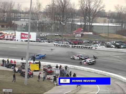 Stock car crash - Donnie Reuvers crash - Krall/Clagg audio