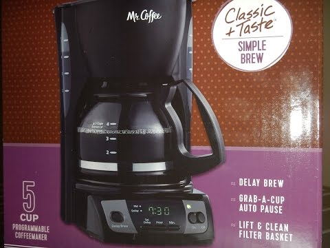 Mr Coffee 5 Cup Coffee Maker Unboxing CGX7