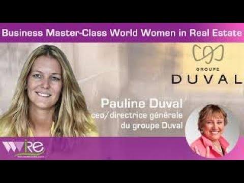 Première partie ( INTRO ) DE LA BUSINESS MASTER CLASS DE PAULINE DUVAL CEO DU GROUPE DUVAL