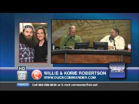 Willie & Korie Robertson, stars of the A&E series Duck Dynasty, share their testimony.