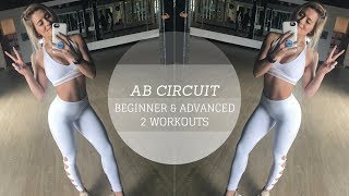 Complete ab and core workout! I created two circuits: one for beginners and one for the more advanced xo Follow yo girl for... Daily Fit Tips With Whit:♡ Instagram https://www.instagram.com/whitneyysimmons/?hl=en♡ Snapchat: whitneyysimmons♡ Twitter: https://twitter.com/whitneyysimmons?lang=enTop: Lululemon (this is old, sorry)Leggings: VSXShoes: Adidas NMD (I found on Mercari)——————————————————————————Supplements I use:♡ Pre-workout: PEScience High Volume (no caffeine) in cotton candy: http://amzn.to/2cfMLu3♡ Pre-workout (this has caffeine and I stack this with High Volume) PEScience Alphamine in cotton candy: http://amzn.to/2qeyAvT♡ Xtend BCAA's http://amzn.to/2cDDCsJ♡ Beverly International Protein http://amzn.to/2d7ak8e——————————————————————————Commonly Asked Q's:Bedspread: Home GoodsOcean Blanket: Society 6My necklace: http://rstyle.me/~a1jUaMy Watch: Apple WatchResistance Bands: http://amzn.to/2a66gzLWireless Headphones I use: http://amzn.to/2if2mNyCamera I use: http://amzn.to/2gBHBZMVlogging Camera I use (and in the gym): http://amzn.to/2jxrTgW——————————————————————————THE WORKOUTCIRCUIT 1: Beginner  Moderate30 seconds each movement30 second rest5 exercises totalplank with side toe tapslaying tuck-ins  knees to chest hereplank cross body toe touchesalternating leg lifts  I called these L-Holds in the videocrunch with holdCIRCUIT 2: Advanced30 seconds each movementNo rest period until all 5 movements are completedplank with up down jumpslaying leg lifts with alternating kicks on the way downplank cross body toe touch to spider crunchalternating leg lift to leg lift (with both legs)hollow hold*There are several ways to complete this workout...complete each circuit complete each circuit twicecomplete both circuitsetc.