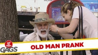 Old Man's Hearing Aid Prank - Just For Laughs Gags