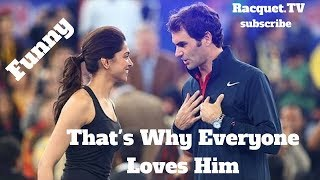 Video Tennis. Roger Federer - TOP EVER FUNNY Moments (part 1) MP3, 3GP, MP4, WEBM, AVI, FLV Januari 2019