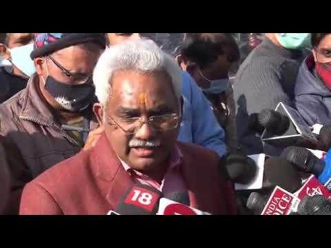 SKM NEWS SERVICE : संसदीय कार्यमंत्री मदन कौशिक की पत्रकार वार्ता।