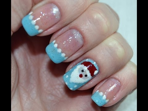 Christmas Santa Claus Nail Art Tutorial /  Дизайн ногтей Маникюр Дед Мороз