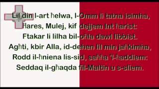 Maltese National with lyrics