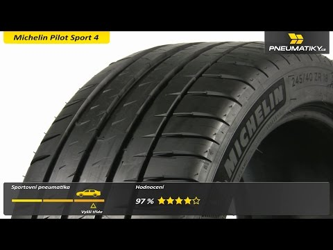 Youtube Michelin Pilot Sport 4 225/45 ZR18 95 Y XL Letní