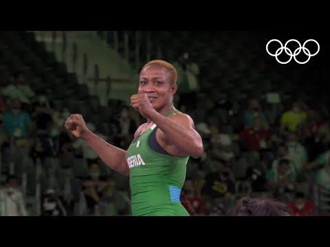 Nigeria's Oborududu advances to final 🤼♀️   #Tokyo2020 Highlights