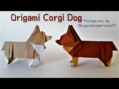 How To Fold An Origami CORGI ( Origami Dog )🐕Designed By Steven Casey