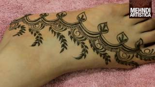 Mehndi Designs For Hands Simple And Easy For Beginners:Foot He...