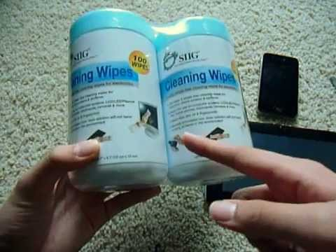 SIIG electronic screen cleaning wipes review