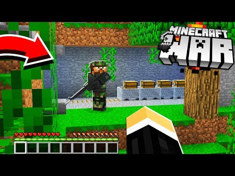 we discovered a SECRET Minecraft TUNNEL to our enemies BASE! (Minecraft War #9)