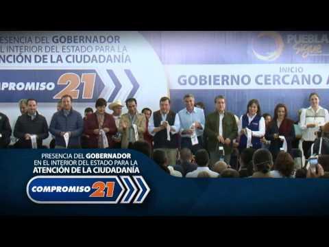 Tony Gali inicia el Compromiso 21: Gobierno cercano a la gente, en Teziutlán