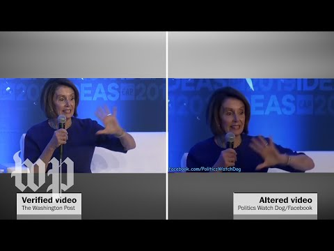 Right Wing Fakes Pelosi Videos To Make Her Sound Drunk