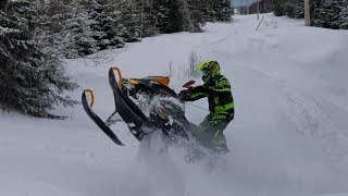 1. [4KHD] Ski-doo Summit Sport 600 Ripping Powerlines + Reaching 10,000km