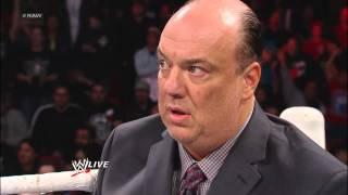 Brock Lesnar Attacks Mr. McMahon During Paul Heyman's Personal Performance Review: Raw, Jan. 28, 201