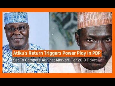 Nigeria News Today: 2019: Atiku's Return To PDP Triggers Power Play With Makarfi (04/12/2017)