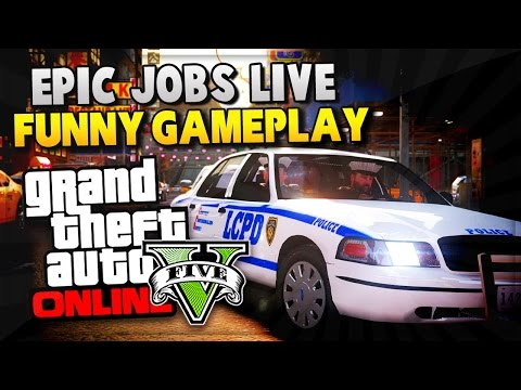 GTA 5 Online Funny Moments – EPIC GTA 5 JOBS! (GTA V Online Gameplay)