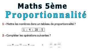 Maths 5ème - La proportionnalité Exercice 5