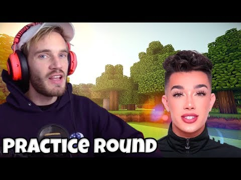 PewDiePie Plays Minecraft W/James Charles On DLive - PRACTICE ROUND On Minecraft Monday - PewDiePie