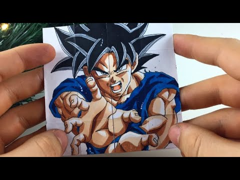 TUTORIAL Goku Transformations| Endless card DIY Gift (видео)