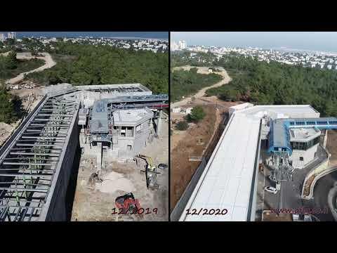 Construcción e Instalación: Proyecto del teleférico en Haifa, Israel