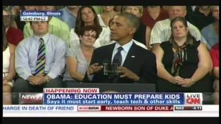 Galesburg (IL) United States  City new picture : President Obama Knox College Galesburg Illinois Speech (July 24, 2013) [3/5]