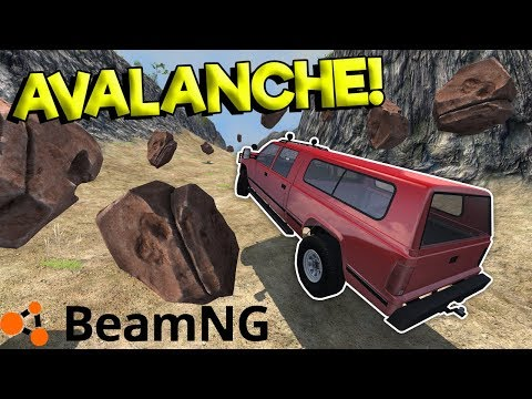 INSANE AVALANCHE SURVIVAL CRASHES! - BeamNG Gameplay & Crashes - Survival Challenge