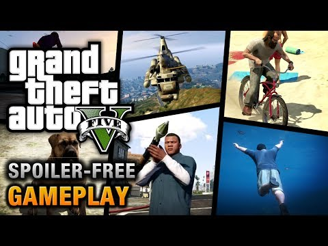 GTA gameplay - Grand Theft Auto V Spoiler-Free Gameplay Video in HD Follow the GTA V Show for more videos: http://www.youtube.com/show/gtafive =============================...