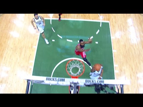 James Harden Chase-Down Blocks Former Teammate Jason Terry