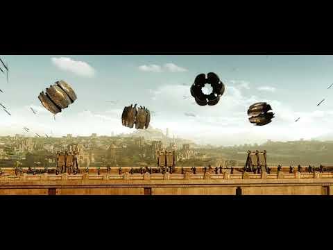 baahubali 2 epic battle flying over the wall