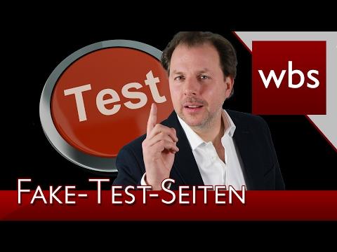 Fake-Test-Seiten – Was gilt rechtlich?