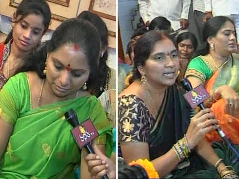 MP Kavitha and Padma Devender Reddy Face to Face Interview at Siddipet 30 September 2014 07 PM
