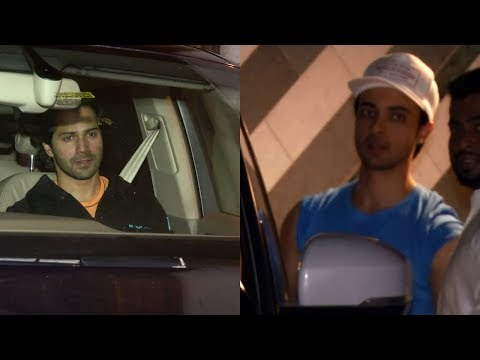 AAYUSH SHARMA AND VARUN DHAWAN SPOTTED AT GYM