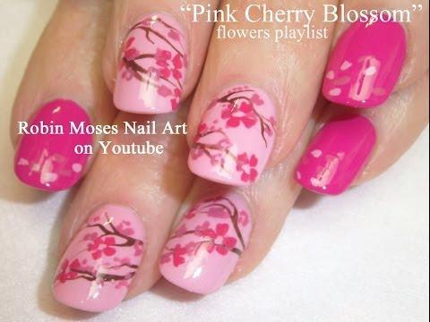 nail art - fiori di ciliegio