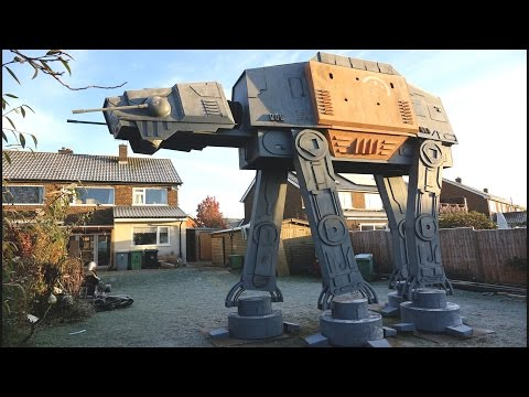 Crazy British Inventor Builds Giant Star Wars ATACT Walker in His