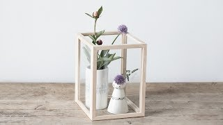 """Display your favourite vases and perhaps other dainty items in an exquisite display case you made yourself. In this video, you can see how Anna uses four wooden frames to make a graceful still life. You can find more creative ideas here: http://sostrenegrene.com/diy-corner/ Find the products from the video in your local Søstrene Grene shop.Remember to press the """"thumbs up"""" button and tell all your friends about this simple, but creative way of making gifts for your friends. You can also subscribe to our channel for notifications on Anna's DIY videos on fun craft projects. On our YouTube channel, you can find creative inspiration and tutorials on DIY projects, styling, painting and even cooking. All our videos aspire to encourage playfulness and creativity for all ages, kids and adults alike.Best regards,SØSTRENE GRENEFind further inspiration on our other social media channels:https://instagram.com/sostrenegrenehttps://facebook.com/sostrenegrenehttps://youtube.com/sostrenegrenehttp://pinterest.com/sostrenegrenesVideo timeline:Materials: 0:01Final product: 0:54"""