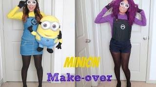 Video Yellow and Purple Minion Halloween Make-up Tutorial MP3, 3GP, MP4, WEBM, AVI, FLV Januari 2018