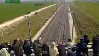 Video of a train speed test in France.