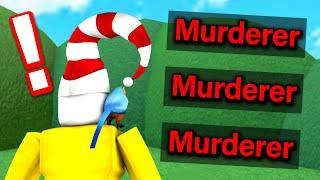 Murderer ONLY in Roblox Murder Mystery 2..