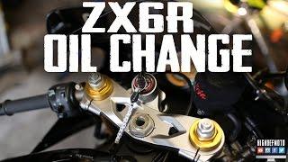 9. 2005 Kawasaki ZX6R OIL CHANGE