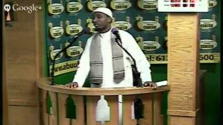 Firday Prayer Masjid Abubakar 07 11 2014