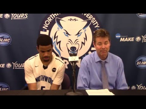 Northwood University Men's Basketball (2/1/16) NU 112, Lake Superior State 111 - Press Conference