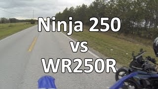 6. Ninja 250 vs WR250R