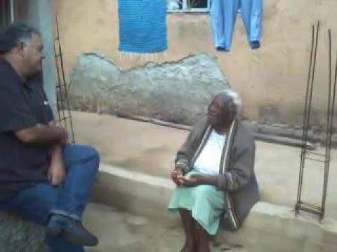 D Joana Sebastiana     MEMÓRIA VIVA   descendente de escravos com   105 anos em Pequeri MG