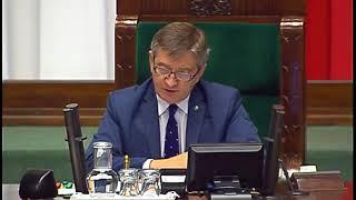 Petru mówił w Sejmie, że przez zakaz handlu w niedzielę pracę straci 100 tys. Polaków. Kuchciński szybko go wyciszył